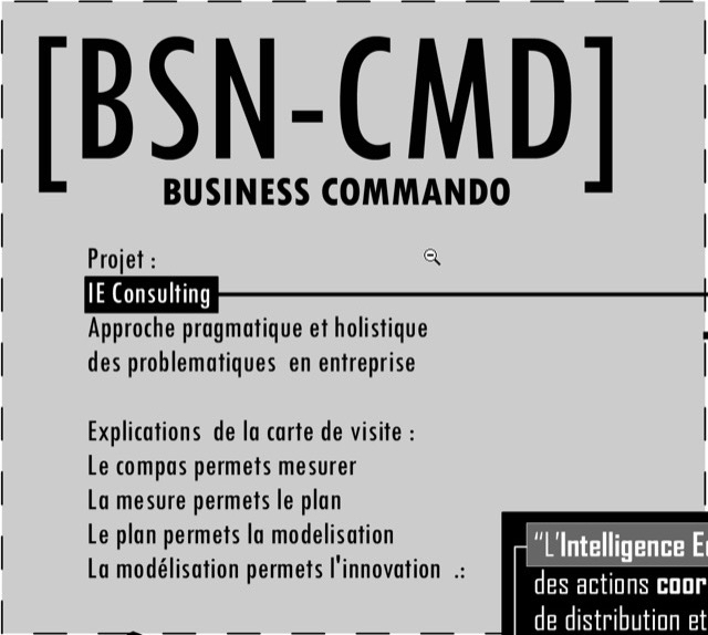 BSN CMD Ou BUSINESS COMMANDO Explication De Lancien Logo